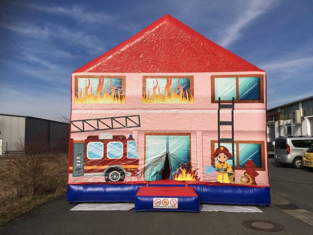 Hüpfburg 'Feuerwehrhaus' 6x6x5m / 105,00€